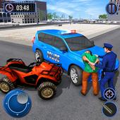 US Police Hummer Car Quad Bike Police Chase Game app in PC