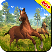Download Wild Horse Family Simulator Horse Games 1.0.9 APK File for Android