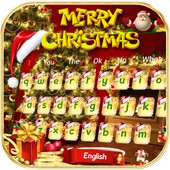 Gold Christmas Keyboard Theme 10001002