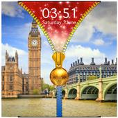 London Zipper Lock Screen 1.1 Android for Windows PC & Mac