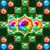 Diamond Merge Puzzle Robin Story  in PC (Windows 7, 8 or 10)