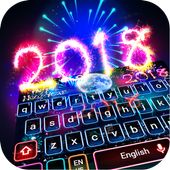 Happy New Year 2018 Keyboard Theme app in PC - Download for Windows