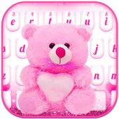 Lovely Teddy Bear Keyboard For PC