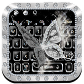 Luxury Diamond Butterfly Keyboard Theme
