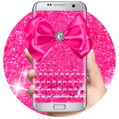 Pink Glitter Bowknot Keyboard 10001002 Latest Version Download