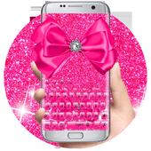 Pink Glitter Bowknot Keyboard  APK 10001002