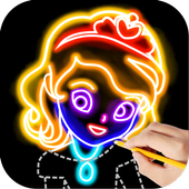 Draw Glow Princess in PC (Windows 7, 8 or 10)