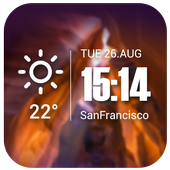 Live weather & Clock Widget For PC
