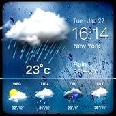 Daily weather forecast widget