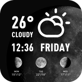 World weather widget& moon phrase information 15.1.0.45510