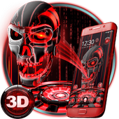 3D Tech Blood Skull Theme APK 1.1.20