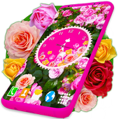 Roses Analog Clock Wallpaper APK 5.0.4
