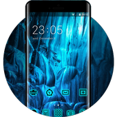 Neon Blue Live Wallpaper & Icon Pack 1.0.0