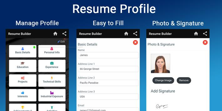 Free Resume Builder Cv Maker Templates Pdf Formats App In Pc