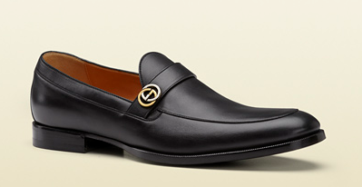 Black Leather Formal Moccasin by Gucci