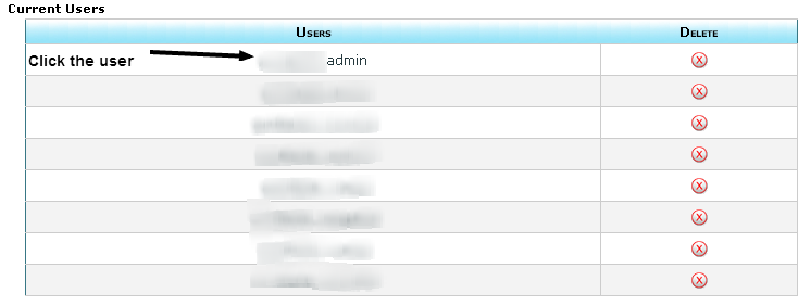 Click the User in cpanel