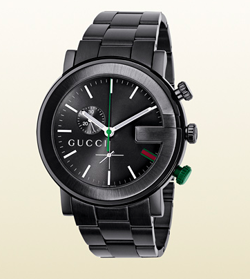 G Chrono Collection Gucci Stainless Steel Black PVD Case