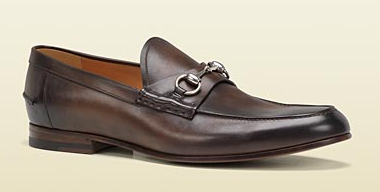 Men's horsebit Moccasin in Brown Leather Gucci
