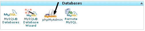 PhpmyAdmin from Cpanel