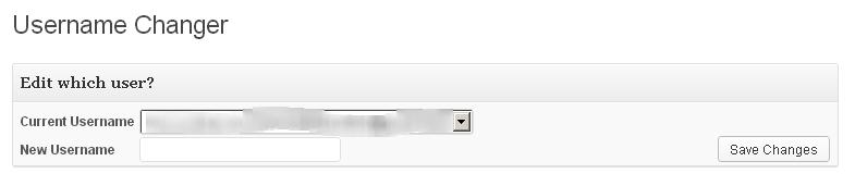 Username Changer WordPress Plugin