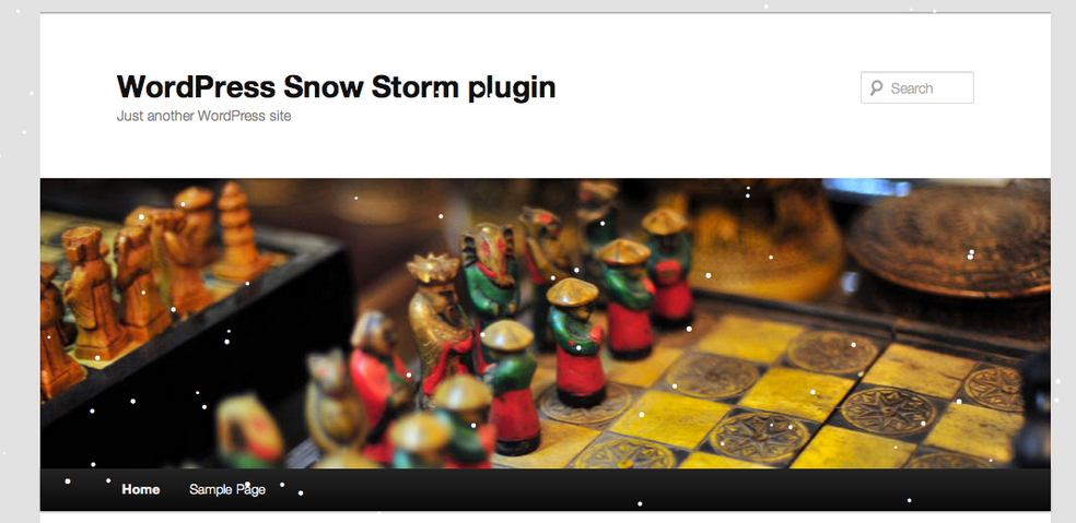 WordPress Snow Storm Plugin
