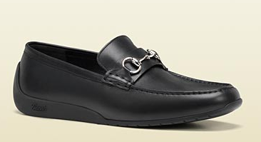 horsebit Moccasin with Rubber Sole