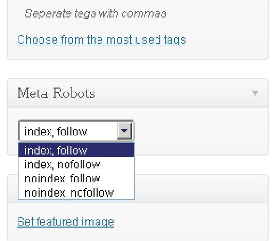 Full control over meta robots0