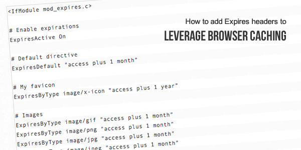 Leverage-browser-cache