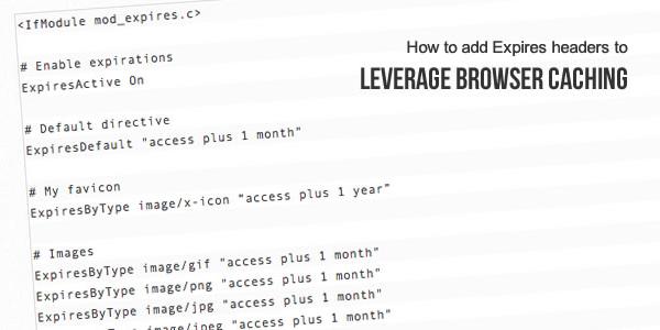 Leverage-browser-cache