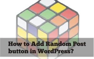 Random Post button in WordPress