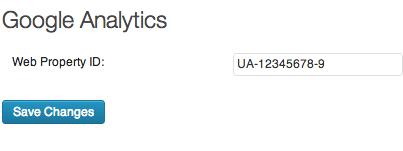 UA- code Google Analytics WordPress