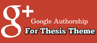 google-authorship for thesis