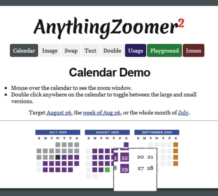 Anything Jquery zoomer css-tricks plugin