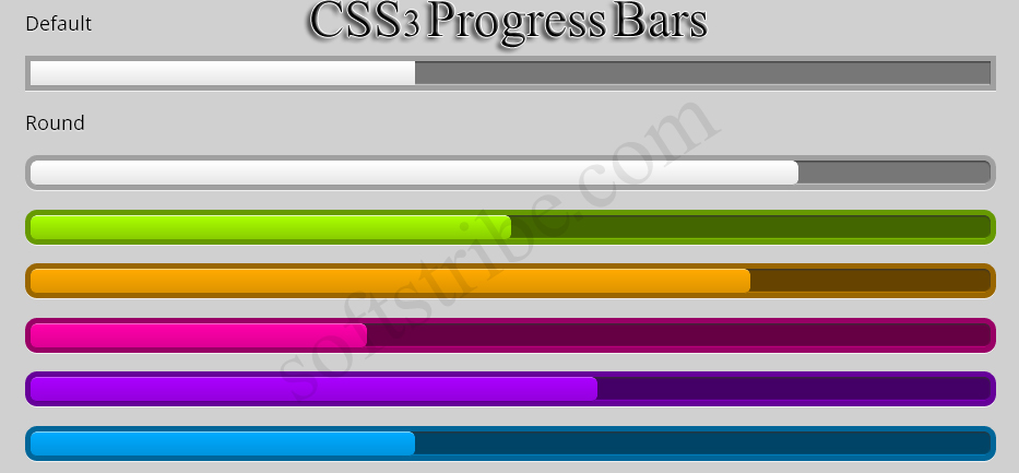 CSS3 Progress bars