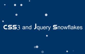 CSS3 Snowflakes