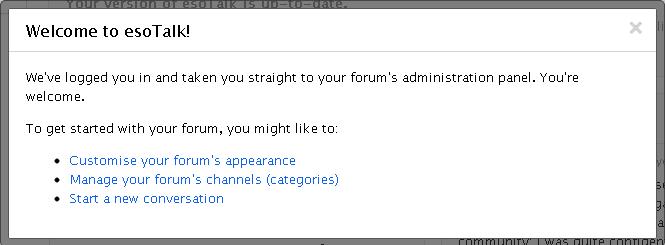 Dashboard EsoTalk Forum