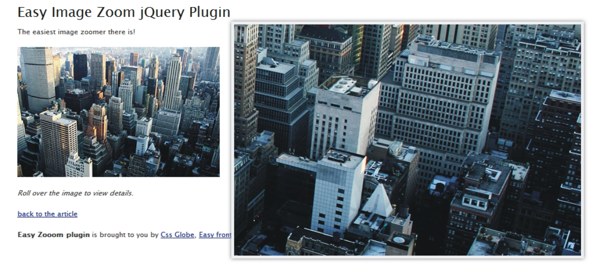 Easy Image Zoom Jquery Plugin