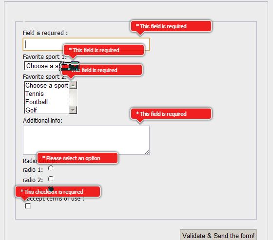 JQuery Validation Engine Example