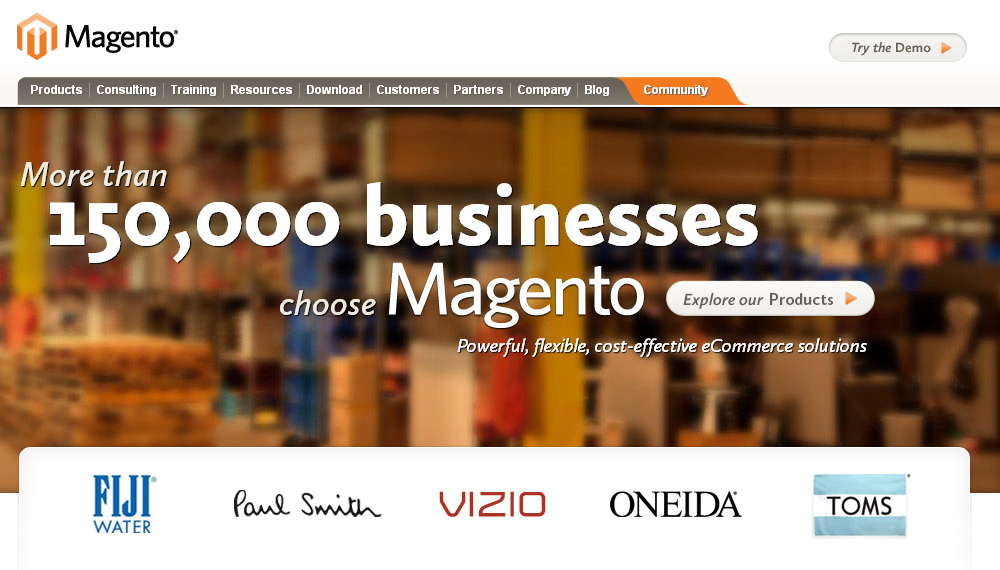 Magento eCommerce Software and Platform
