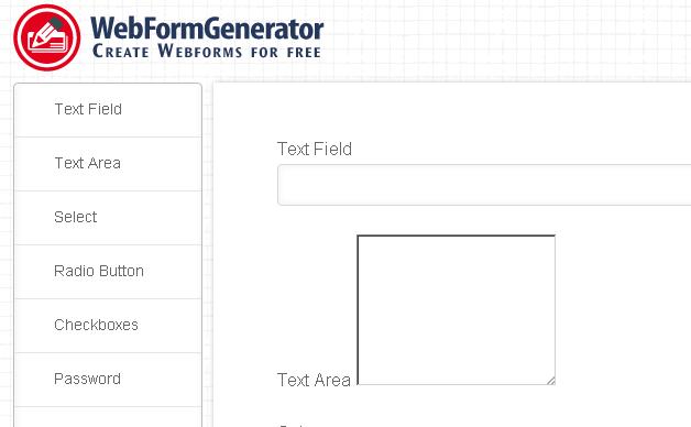 Online WebFormGenerator HTML5 forms
