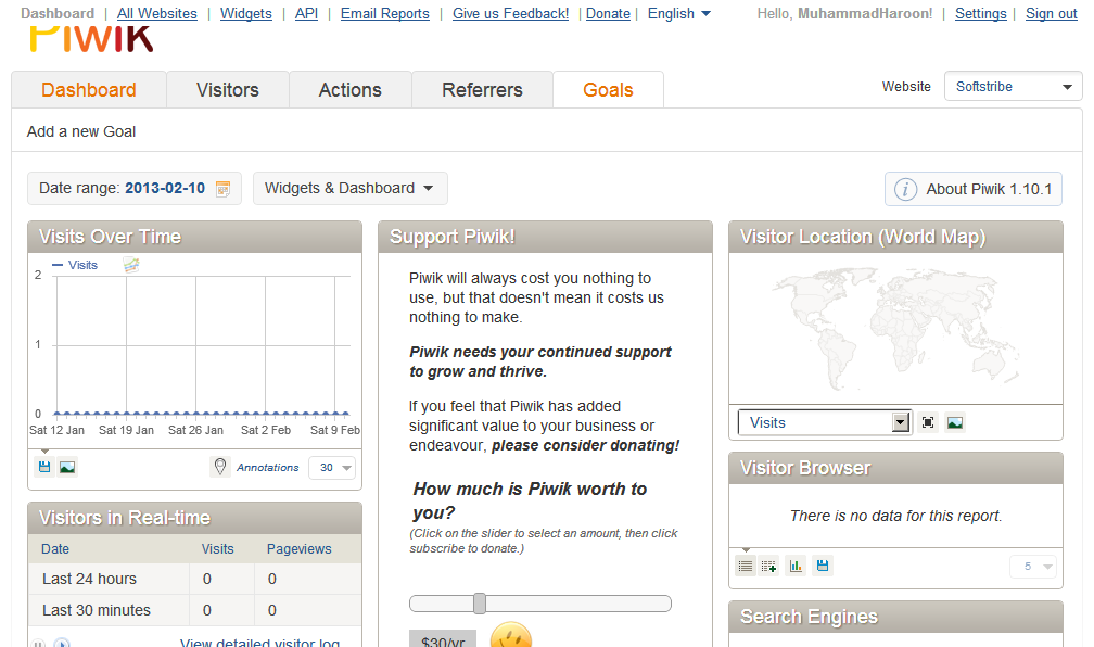 Piwik Open Source Web Analytics