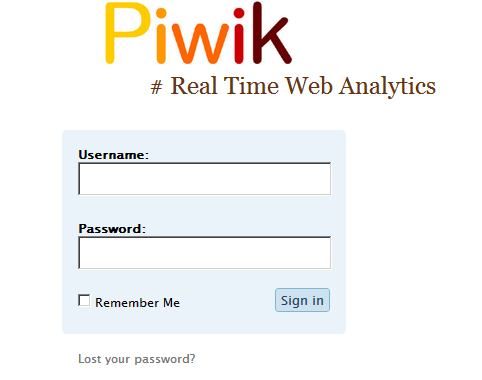 Piwik Real time Web Analytics