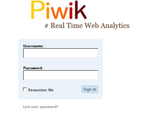 Piwik Real time Web Analytics