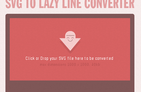SVG to Lazy Line Converter