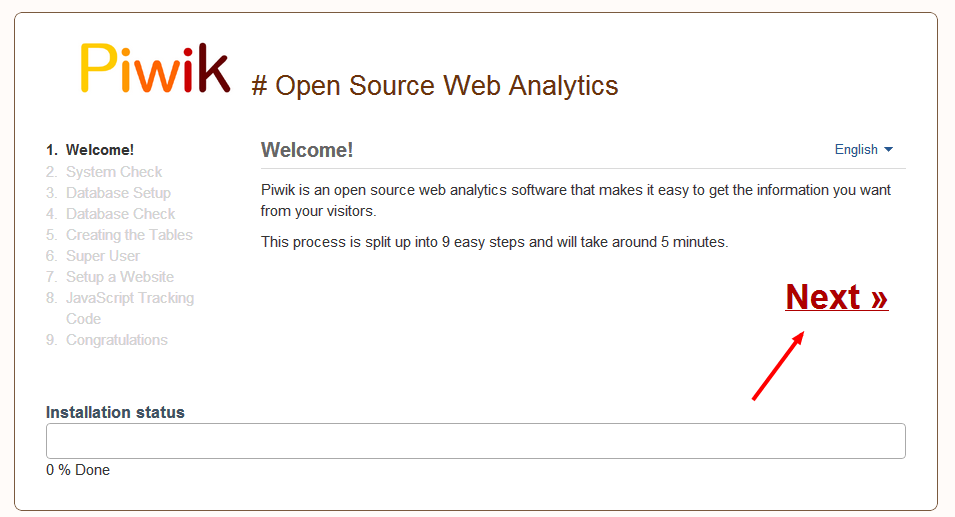 Setting up Open Source Piwik Web Analytics