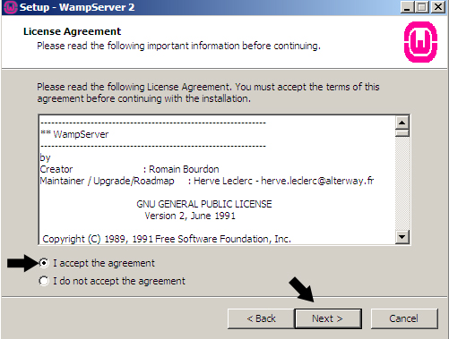 WampServer Agreement