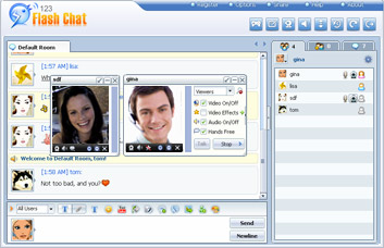 123 Web Messenger Chat Software
