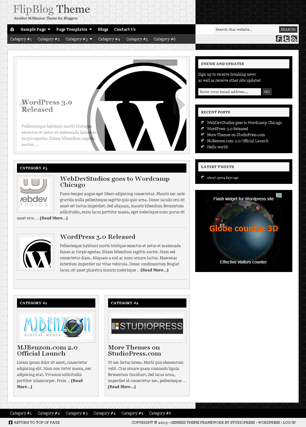 Another MJBenzon Theme for Bloggers - FlipBlog