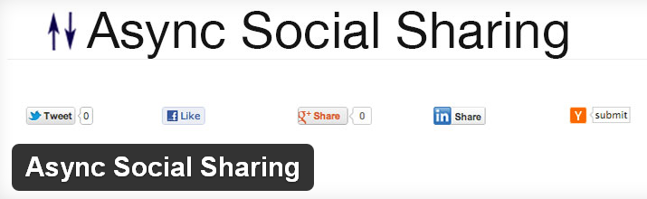 Async Social Sharing WordPress Plugin