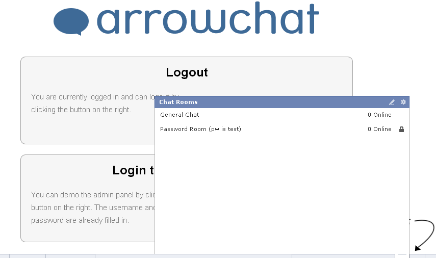 Branded Demo   ArrowChat jQuery Chat Software